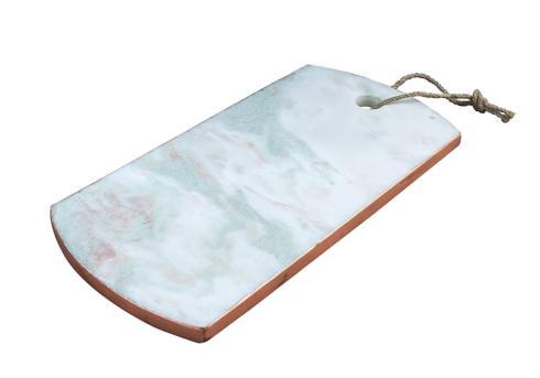 $36.95 Onxy Patina Vie Onyx Marble Serving Board with Copper Edging, White