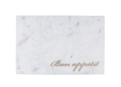 Elizabeth Clair\'s Unique Gifts  Serving Boards Marble Appetit Etched Serving Board, White $30.95