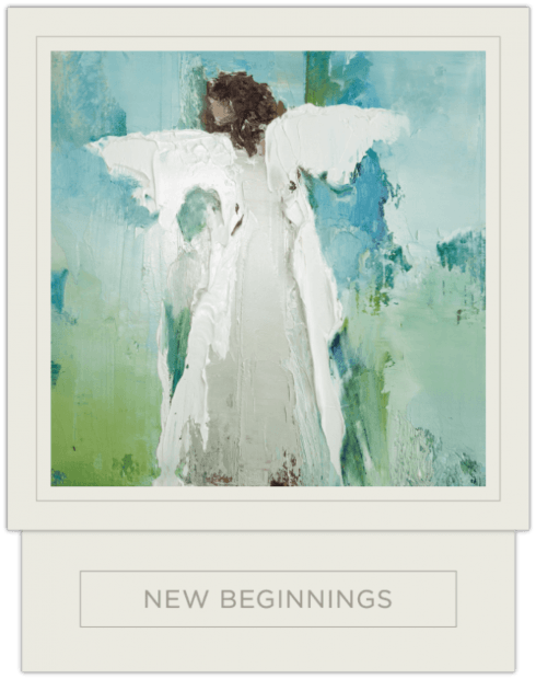$52.95 NEW BEGINNINGS CANDLE BLUE