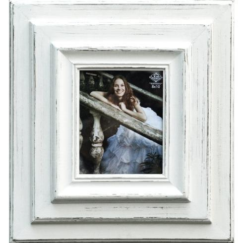 "$119.95 Layered Frame White holds 8"" x 10"" Picture"
