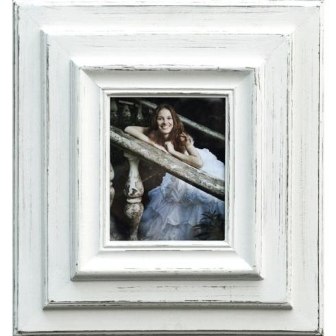 "$138.95 Layered White Frame holds 11"" x 14"" Picture"