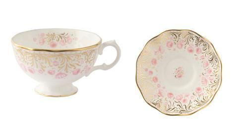 $260.00 Royal Crown Derby - Royal Peony- Pink Tea Cup & Saucer