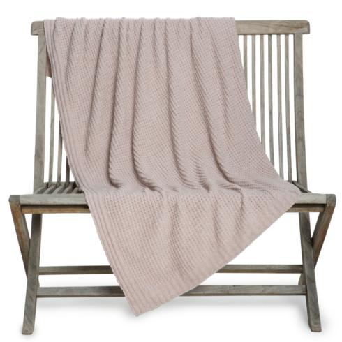 Barefoot Dreams  THROWS the WAFFLE THROW BLANKET Faded Rose $108.95