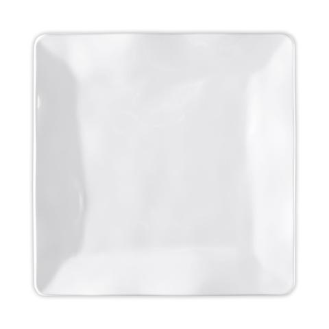 $12.95 Ruffle White Melamine Square Dinner Plate