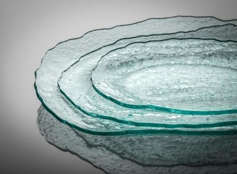 """Elizabeth Clair\'s Unique Gifts  Annieglass SALT Oval Platter 7"""" x  15.5"""" $64.95"""