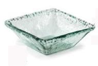 Primitive Artisan   Iceberg Glass Med Square Deep Bowl  $18.95