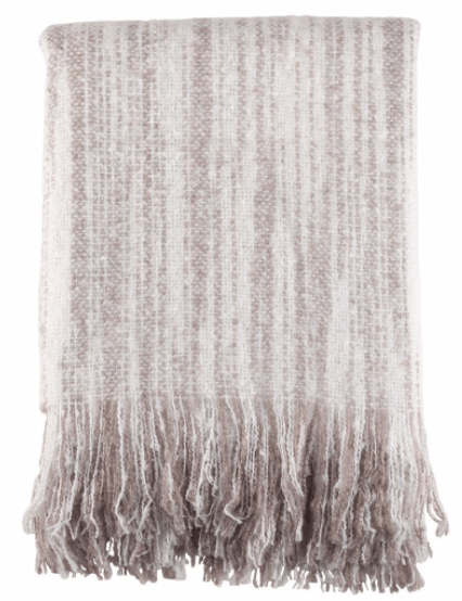 Gray Faux Mohair Throw - Saro Lifestyle collection with 1 products