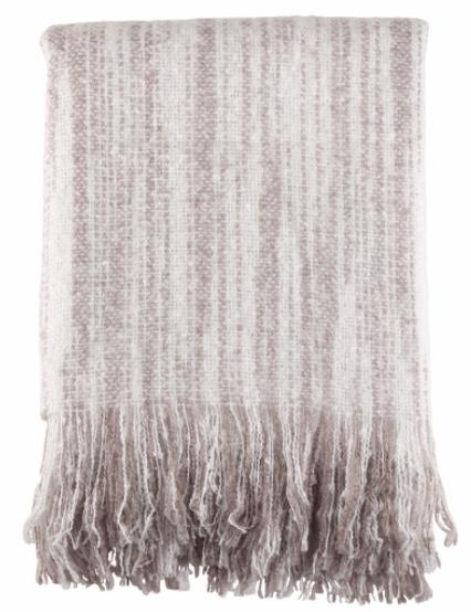 Saro Designs   Gray Faux Mohair Throw - Saro Lifestyle $51.95