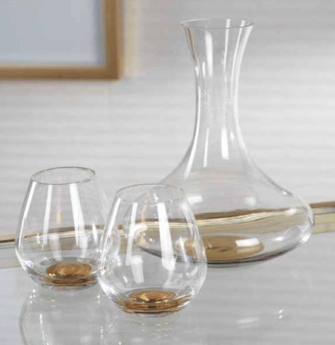 Zodax  Glasses Brunello Wine Decanter with Gold Base $56.95