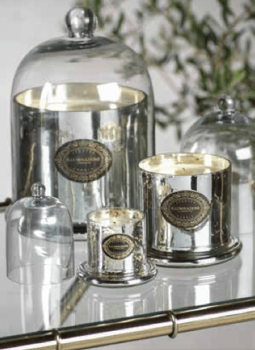 $26.96 Wax Filled Mercury Glass Jar with Cloche  Small