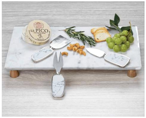 Zodax    Amalfi Marble Cheese Tray on Acacia Wood $78.95