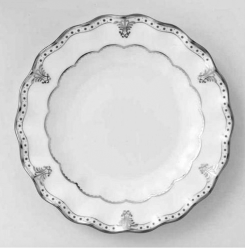 $145.00 ROYAL CROWN DERBY ELIZABETH PLATINUM SALAD PLATE - 8""