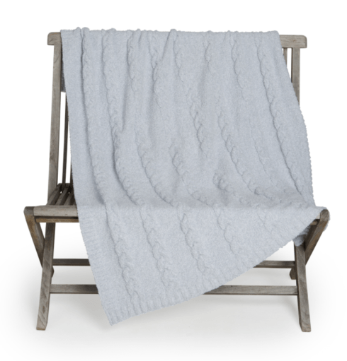 Barefoot Dreams   COZYCHIC® HEATHERED CABLE BLANKET $115.95