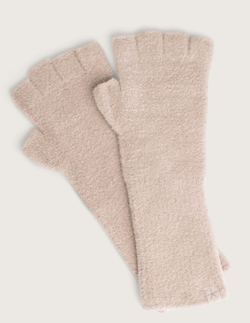 $23.95 CozyChic Lite Fingerless Gloves  Taupe