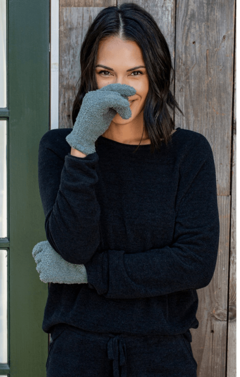 $23.95 CozyChic® Gloves  Agave Green
