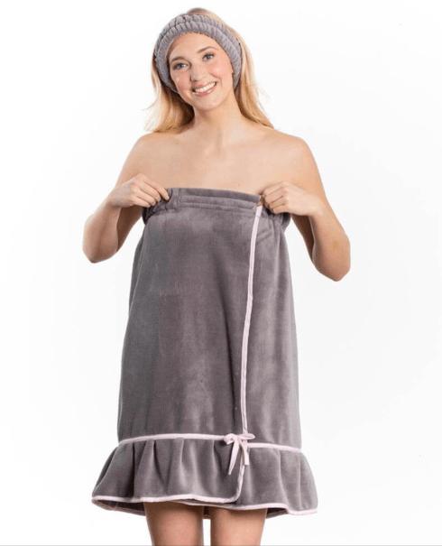 $35.95 Spa Wrap - Gray with Pink Trim