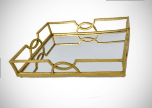 $198.95 Mirrored Gold Tray