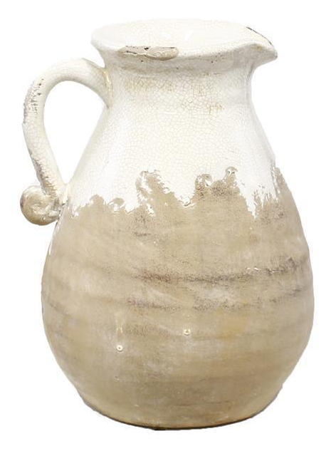 """A&B Floral   10"""" HAND THROWN PITCHER W/HANDLE $32.95"""