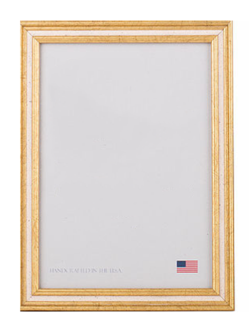 Elizabeth Clair\'s Unique Gifts  Frames 4X6 Gold With Cream Channel Frame $25.95