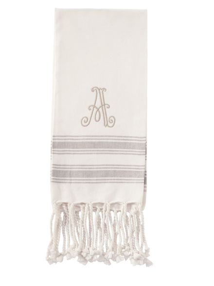 $8.95 INITIAL TURKISH HAND TOWELS Initial A