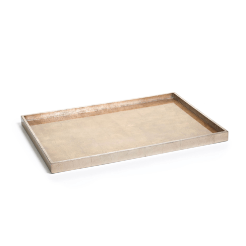 $47.95 Antique Gold and Silver Serving Tray - Large