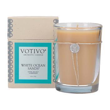 $28.95 6.8 OZ AROMATIC CANDLE WHITE OCEAN SANDS
