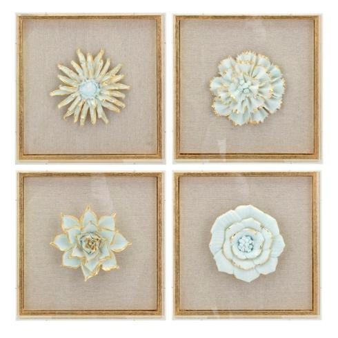 IMAX   Porcelain Flower Wall Deco (Priced Each) $98.95