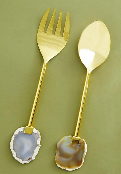 Agate Salad Server Set collection with 1 products