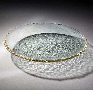"""$194.95 Annieglass - Edgey 13 1/2"""" Round Platter"""