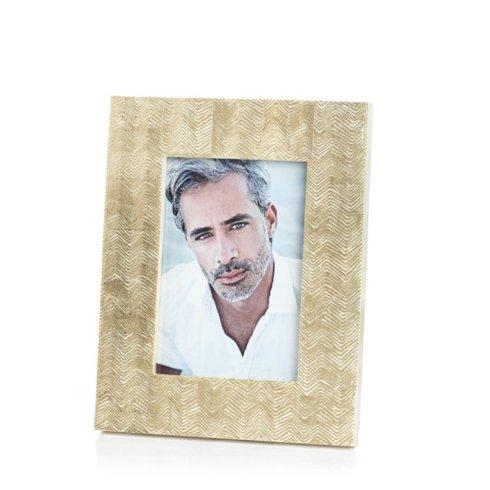 "Gold Foil Harringbone Frame for 5"" x 7"" Photo collection with 1 products"