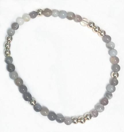 $25.95 Worthy Pattern 4mm Bead Bracelet-Botswana Agate