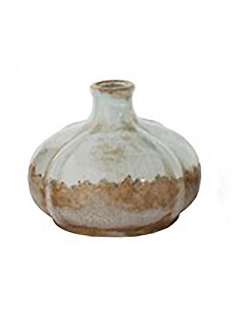 Creative Co-op   Aqua Vase Short $12.95
