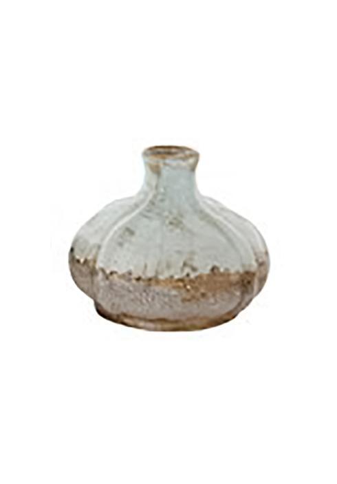 Creative Co-op   Aqua Vase Short $10.95