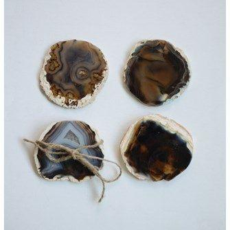 "Creative Co-op   4"" Round Agate Coster $37.95"