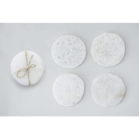 $37.95 Set of 4 Round Quartz Coasters