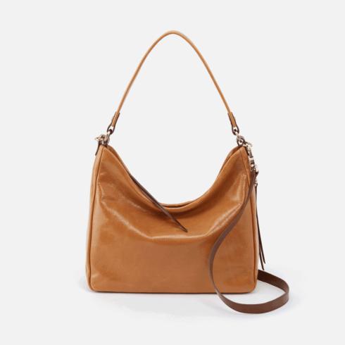 $268.00 DELILAH Convertible Crossbody Shoulder Bag, Color: Honey