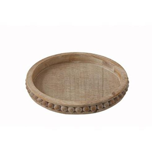 """Creative Co-op   16"""" Round x 2"""" H Decorative Wood Tray $58.95"""