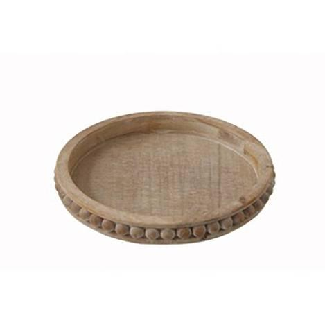 Creative Co-op   Round Wood Tray $54.95