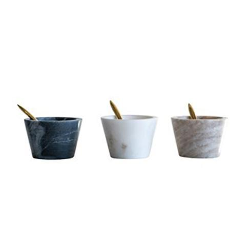 Creative Co-op   Marble Bowl with Spoon Set in Assorted Colors (Priced ea.) $12.95