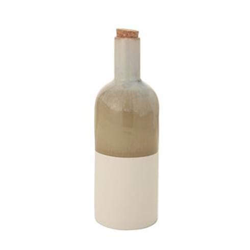 $13.95  Ceramic Reactive Glaze/Matte Bottle w/ Cork Stopper