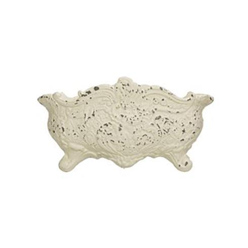 $74.95 Vintage Reproduction Cast Iron Cachepot, Distressed White