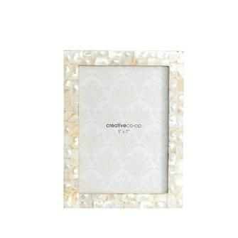 "$26.95 8-1/2"" L x 6-1/2"" W Mother of Pearl Photo Frame (Holds 5"" x 7"" Photo)"
