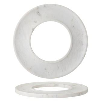 "Creative Co-op   13"" Round Marble Circle Cracker/Cheese Tray, White $48.95"