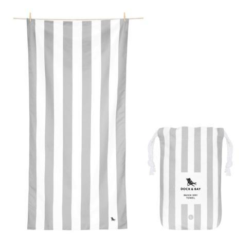 Elizabeth Clair\'s Unique Gifts  Dock & Bay Cabana Collection -  Quick Dry Beach Towel - GOA GRAY - LARGE $20.95
