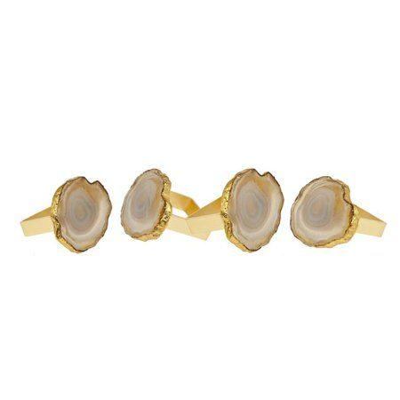 Elizabeth Clair\'s Unique Gifts   Godinger Square Agate Napkin Ring - Natural  (Sold as Individual Ring.) $11.95