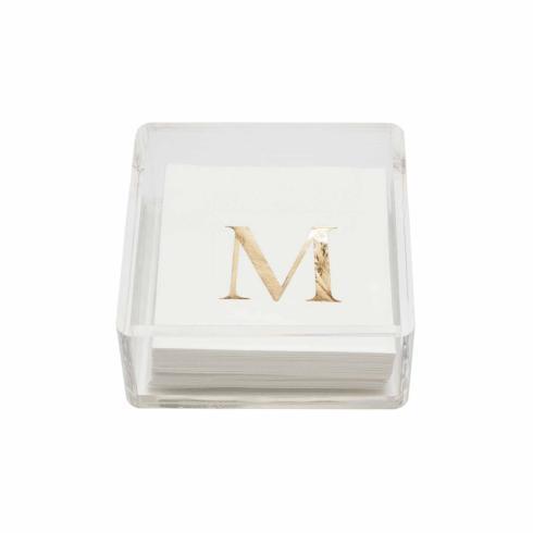 "Mud Pie   Acrylic Napkin Holder Set Initial ""S"" $26.95"