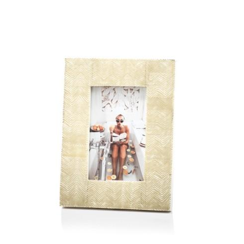 "Gold Foil Herringbone  Frame for 4"" x 6"" Photo collection with 1 products"