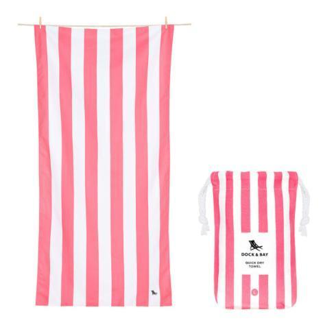 $20.95 Cabana Collection - Quick Dry Beach Towel - KUTA PINK - LARGE