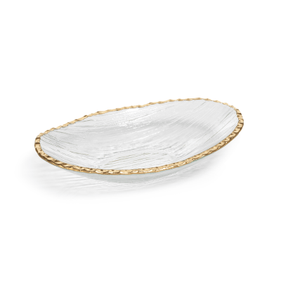 Zodax   Bowl Textured Gold Edge sm $16.95