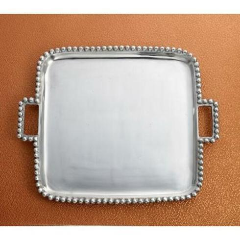 Elizabeth Clair\'s Unique Gifts   Square Beaded Tray With Handles $49.95